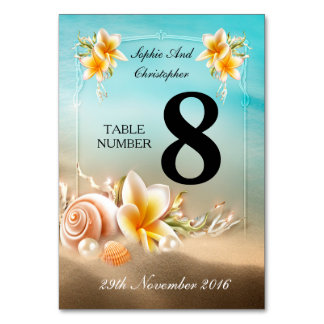 Wedding Table Number Ocean Sea View Card Table Card