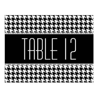 Wedding Table Number Sign HOUNDSTOOTH Postcard