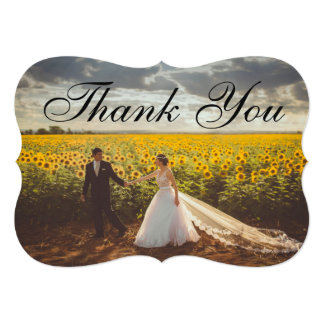 Wedding Thank You Add Your Own Photo Card