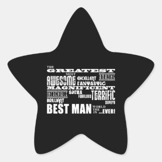 Wedding Thank You Best Men : Greatest Best Man Star Sticker