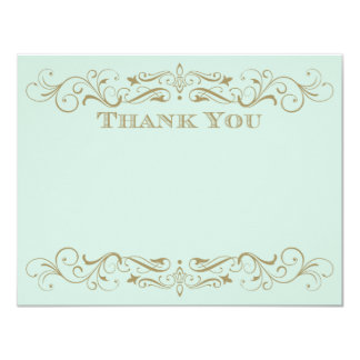 Wedding Thank You Card | Antique Gold Flourish