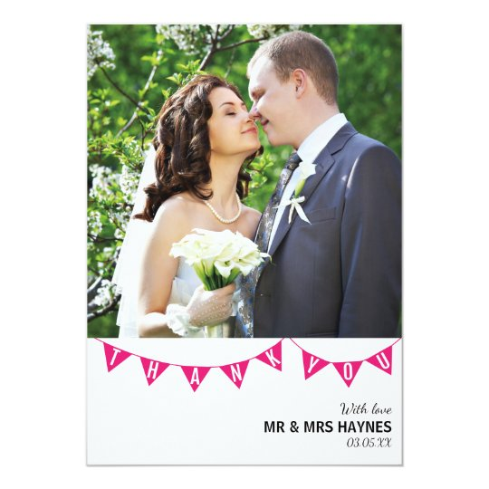 Wedding Thank You Card - Flat Card