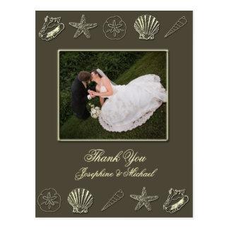 Wedding Thank You card, photo template Postcard
