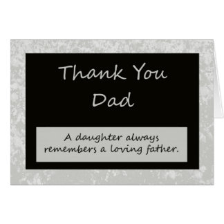 Wedding Thank You Card to Parent Dad