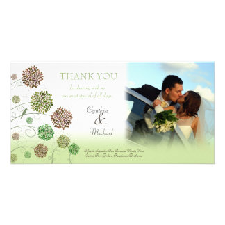 Wedding Thank You Dahlia Garden Photo Card