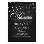 wedding thank you eat drink and be married note card