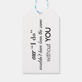 Wedding Thank You Favor Gift Tag Pack Of Gift Tags