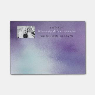Wedding Thank You Favor Mint Purple Lavender Post-it Notes