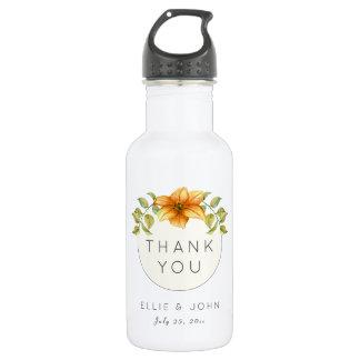 Wedding Thank You Favor Watercolor Star Flower 532 Ml Water Bottle