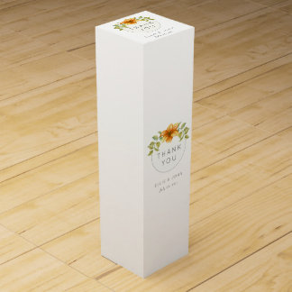 Wedding Thank You Favor Watercolor Star Flower Wine Boxes