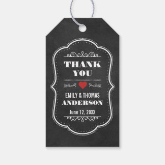 Wedding Thank You Favour Chalkboard Gift Tags R