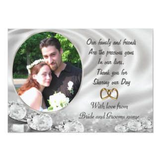 Wedding Thank you for favors with portrait Card