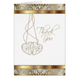 Wedding Thank You From Bride and Groom Card