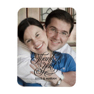 Wedding Thank You Gratitude Favorite Photo Magnet