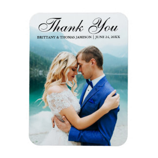 Wedding Thank You Modern Photo Magnet L