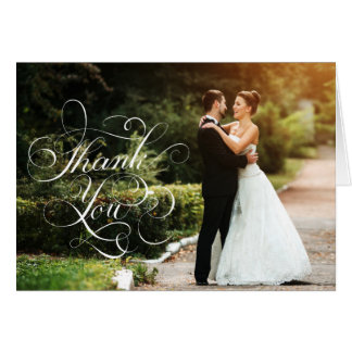 Wedding Thank You Note Cards Cursive Script