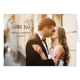 Wedding Thank You Note Cards Photocard Custom