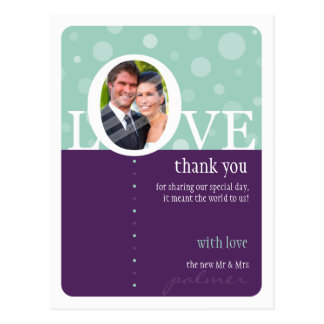WEDDING THANK YOU NOTE LOVEbubbles 6 Post Cards