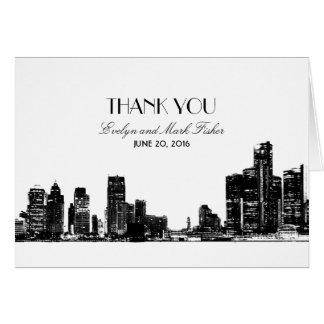 Wedding Thank You Notes | Art Deco Detroit Skyline