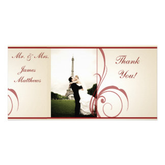 Wedding Thank You Personalized Photo Card