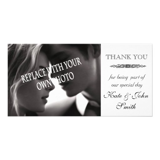 wedding Thank you photo card template