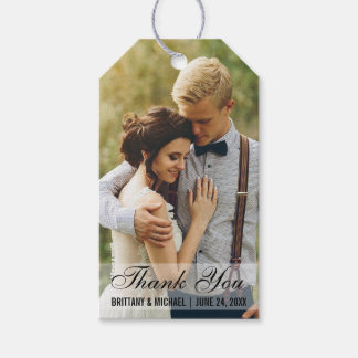 Wedding Thank You Photo Favor Gift Tags