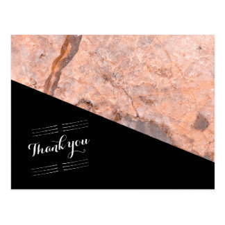 Wedding thank you pink quartz postcard