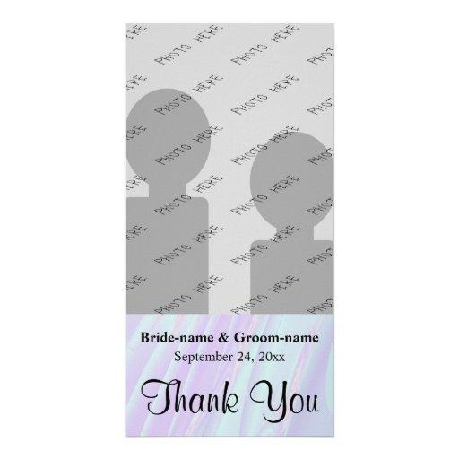 Wedding Thank You. Seashell Style Pattern. Photo Card Template