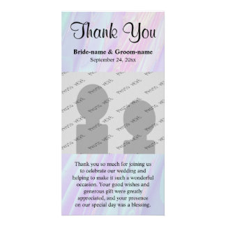 Wedding Thank You. Seashell Style Pattern. Picture Card