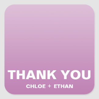 Wedding Thank You Square Sticker