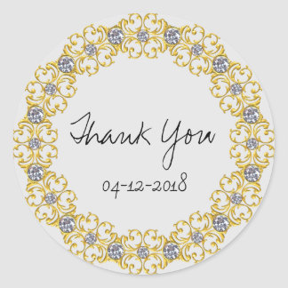 Wedding thank you stickers or envelope seals
