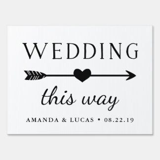 Wedding This Way | Directional Sign