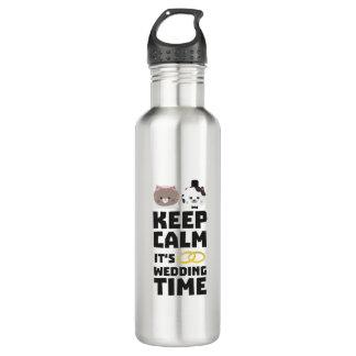 wedding time keep calm Zitj0 710 Ml Water Bottle