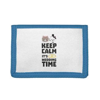 wedding time keep calm Zitj0 Tri-fold Wallet