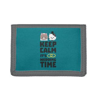 wedding time keep calm Zitj0 Trifold Wallet