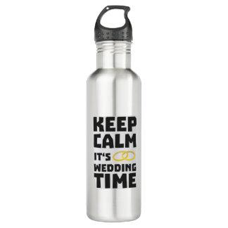 wedding time keep calm Zw8cz 710 Ml Water Bottle