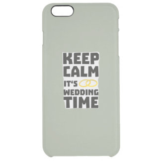 wedding time keep calm Zw8cz Clear iPhone 6 Plus Case