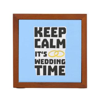wedding time keep calm Zw8cz Desk Organizer