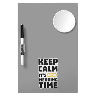 wedding time keep calm Zw8cz Dry Erase Board With Mirror