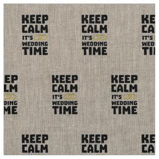 wedding time keep calm Zw8cz Fabric