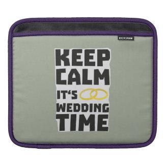 wedding time keep calm Zw8cz iPad Sleeve