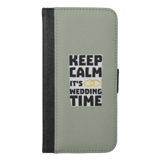 wedding time keep calm Zw8cz iPhone 6/6s Plus Wallet Case