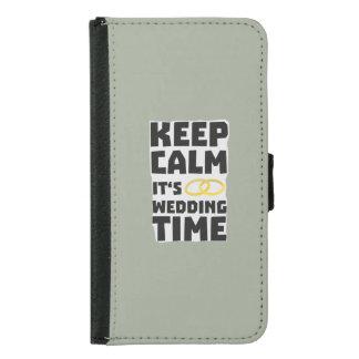 wedding time keep calm Zw8cz Samsung Galaxy S5 Wallet Case