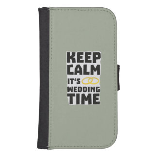 wedding time keep calm Zw8cz Samsung S4 Wallet Case