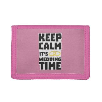 wedding time keep calm Zw8cz Tri-fold Wallet