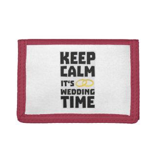 wedding time keep calm Zw8cz Tri-fold Wallets