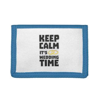 wedding time keep calm Zw8cz Trifold Wallet