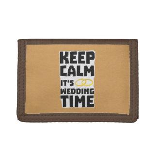 wedding time keep calm Zw8cz Trifold Wallets