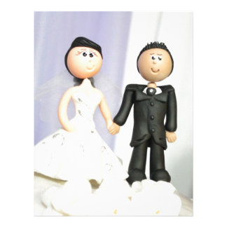 Wedding Topper Bride and Groom Personalized Letterhead