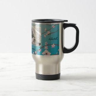 Wedding Travel Mug - Cherry Blossoms